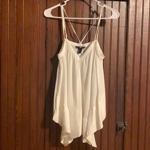 Strappy Flowy White Top NWOT